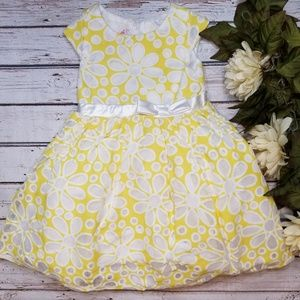 Nannette Girl | Yellow Floral Easter Church Dress